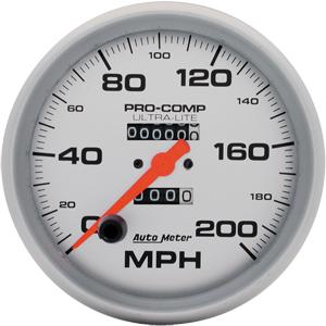 200 MPH ULTRA-LITE Autometer 4496 5 SPEEDO IN- DASH MECH